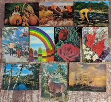 Vintage Lenticular 10 Postcard Lot Assorted Images 3-D Super Xograph 1960s