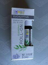 Aura Cacia Fresh Eucalyptus Camphorous Essential Oil Roll-On Clearing 0.31 fl oz