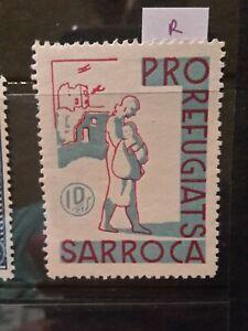 SPAIN CIVIL WAR GUERRA - SARROCA - LOCAL CITY POST