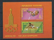 Togo Bloc N°137** (MNH) 1980 - J.O Moscou
