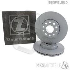 2x ZIMMERMANN SPORT-BREMSSCHEIBE GELOCHT BELÜFTET Ø312 VORNE VW PASSAT 36 AB 10