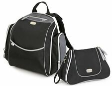 Chicco Urban Backpack & Dash Bag Baby Diaper Bag Set Black New w/ Changing Pad