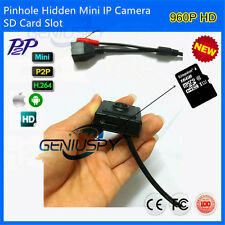 1.3MP 960P 40x40mm Pinhole Hidden Mini Ip Camera Sd Card Slot P2P PC&Phone view