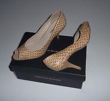 elegante Schuhe VIA UNO Pumps Peeptoe Gr.40 UK6,5 Leder NEU NP69,-