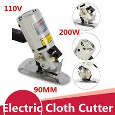 90Mm Rotary Round Blade Electric Fabric Cloth Cutter Cutting Machine Tool 110V !