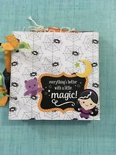 WITCH MAGIC chipboard 6 X 6 SCRAPBOOK handmade JUST ADD PHOTOS Halloween Ghouls