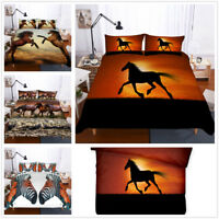 3D Horse Bedding Set Duvet Cover Pillow Case Zebra Quilt Cover Comforter Cover