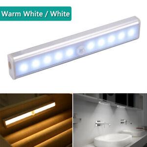 LED Motion Sensor PIR Light Cordless Battery Powered Night Light Closet Stair