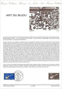 Timbre 1er jour sur document philatélique - ART DU BIJOU -1983