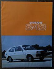 VOLVO 343 orig 1977 UK Mkt 20 Page Sales Brochure - 300 340 Series
