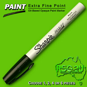 SHARPIE PAINT BLACK EXTRA FINE POINT 0.4 MM OIL BASED OPAQUE PAINT MARKER