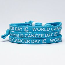 CANCER RESEARCH UK World Cancer Day 2020 Unity Band Cyan Light Blue Pack Of 3