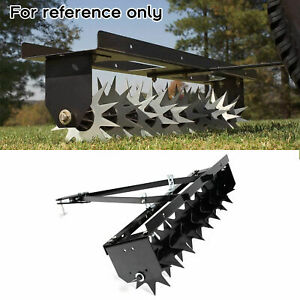 """32"""" Tow Behind Lawn Aerator Soil Penetrator Spikes Tractor Soil Mower Hitch"""