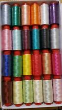 24 spools of machine silk embroidery threads for Brother,Janome and many more
