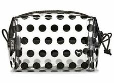 Nwt Victorias Secret pink dog Beauty Bag See Through clear Cosmetic Case Rare