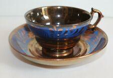 Ancienne tasse à thé  et sa sous-tasse  en faïence de Jersey hauteur 5.5 cm