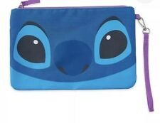 Disney Store Zipper Pouch Stitch Cosmetic / Coin Travel Bag Purse New
