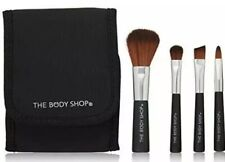 The Body Shop Mini Brush Kit 4 Piece Travel Purse Size With Mirrored Case NEW
