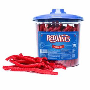 Red Vines Original Twists, 1.6kg Liquorice Kosher Halal Fat Free Made in USA