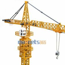 1:50 Scale Diecast Tower Slewing Crane Construction Vehicle Car Models By KDW