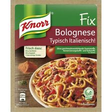 7 x Knorr Fix  Bolognese Typisch Italienisch ! New and fresh from Germany