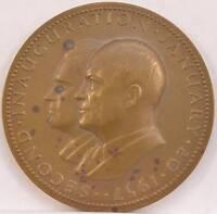 1957 Dwight Eisenhower Richard Nixon Bronze Inaugural Medal Medallic Art POTUS