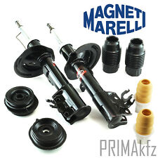 2x WITH Marelli Shock Absorber Front Strut Mount Bump Stop Fiat Panda II 169 Gas
