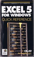 EXCEL 5 for Windows, Quick Reference, 1993 Paperback Free USA Shipping!