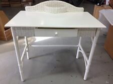 Pottery Barn Kids PBK Antique Cottage Wicker School Homework Office Desk White