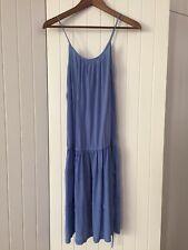 Vintage Retro Prom Blue Silk Slip Dress Size 8