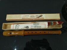 Wooden Adler descant recorder in original box