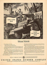 1945 WW2 AD US RUBBER CO. TRACTION Tires for Tractors Tank Destroyer 022016
