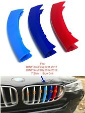NEW M POWER LOGO KIDNEY GRILL 3D 3 COLOUR COVER ABS STRIPS BMW X3 F25 X4 F26