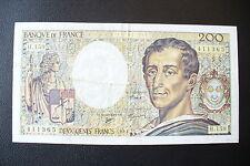 RARE BILLET 200  FRS MONTESQUIEU  1994  ALPH/ H.159 !!! TTB++