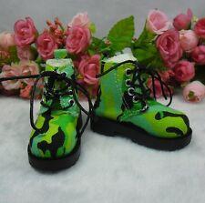 MSD DOC 1/4 Bjd Sasha Obitsu 60cm Bjd Doll Boots High Hill Shoes Army Green