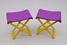 BARBIE CAMPING FUN DOLLHOUSE FURNITURE SMALL PICNIC CHAIRS SPORTS ACCESSORY