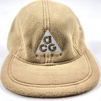 Nike NikeLab ACG AW84 Fleece Adjustable Strapback Hat Cap Beige Grey BV1050-297