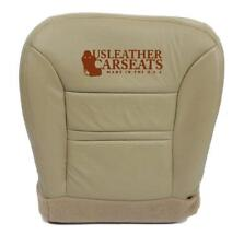 00 01 2000 2001 Ford Excursion Limited Driver Bottom Leather Seat Cover Tan