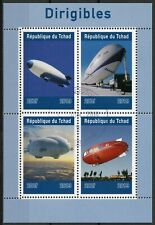Chad 2019 CTO Dirigibles Airships 4v M/S Aviation Stamps
