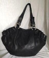 Large PIERRE CARDIN Black Leather Tote/Shoulder Bag / Handbag