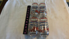 """Four Pepsi Cola Soda Pop Vintage Stained Glass 6"""" DRINKING GLASSES"""