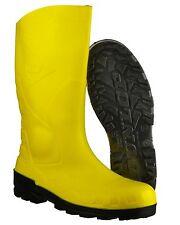 Dunlop Devon Unisex Ladies Mens Steel S5 SRA Work Safety Wellington BOOTS Yellow 42