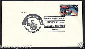 Lebanon Missouri 5th Babe Ruth World Series 1993 USPS Envelope & Olympic Stamp
