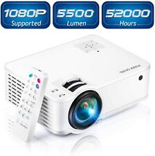 "Full HD 1080P 5500 Lumens Portable Home Theater Movie Video Projector 210"" Dsply"