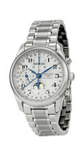 New Longines Master Collection Chronograph Silver Dial Steel Men Watch L26734786
