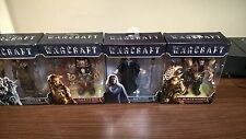 warcraft figures lot of 4 Blackhand/Medivh/Durotan/Lothar