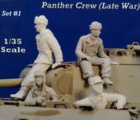 1/35 Resin Figures Model Kit WW2 German PANTHER CREW  4 figures (NO TANK)