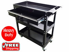 MECHANICS TOOL TROLLEY with DRAWER TOOLBOX TOOL BOX CHEST BLACK CABINET CART
