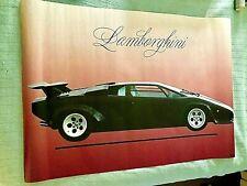 Scarce ! Black Lamborghini Poster 39x29 1987 Scandecor, Germany