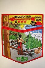 OA TISQUANTUM 164 OCC 249 OLD COLONY COUNCIL 2-PATCH DEER RED NOAC 2006 FLAP